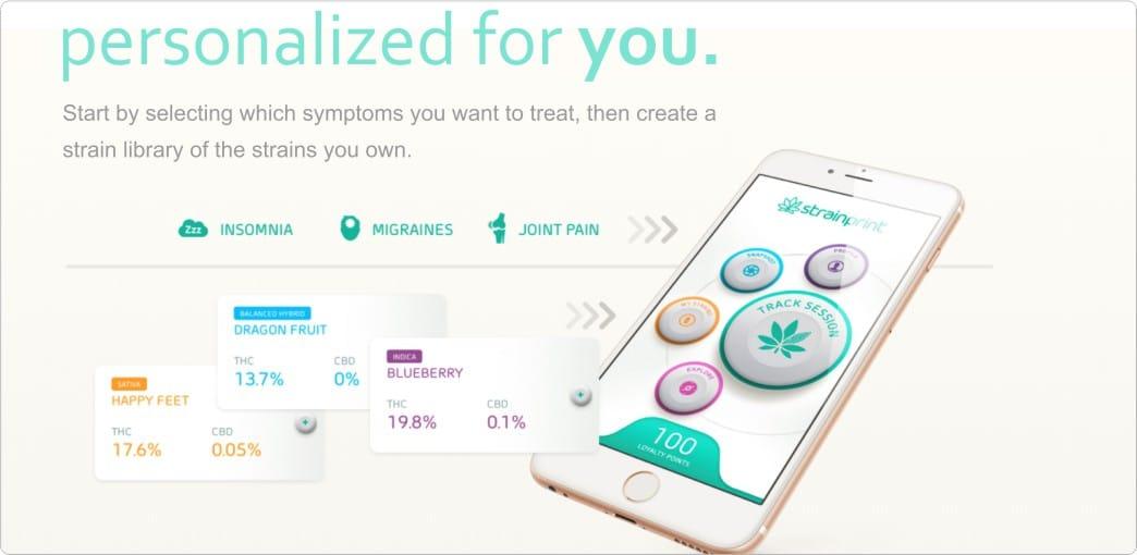 Strainprint App, use cannabis better